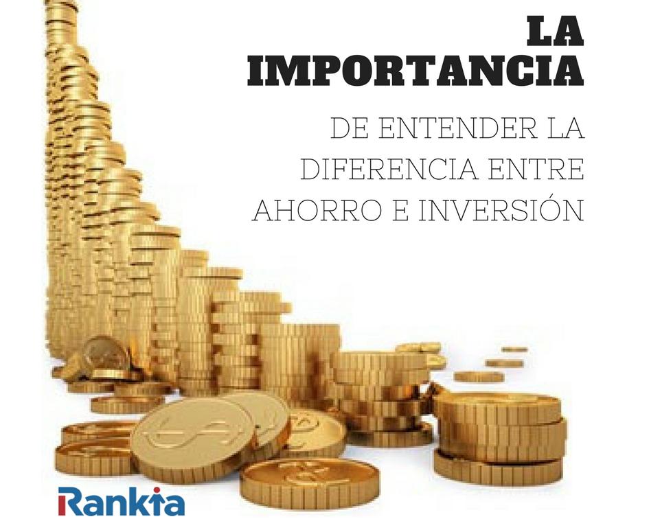 Diferencias entre ahorro e inversión