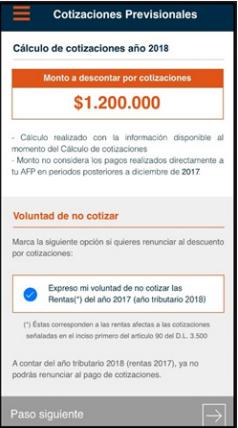 declaracion app e renta propuesta declaracion cotizaciones previsionales