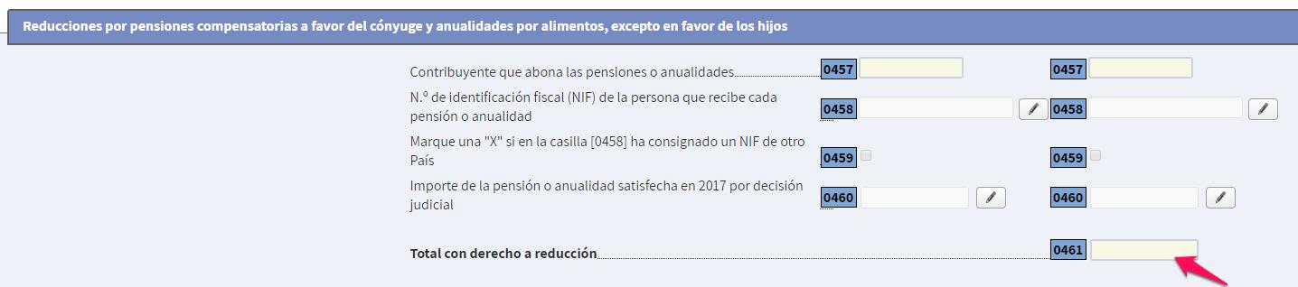 reducción pensión compensatoria