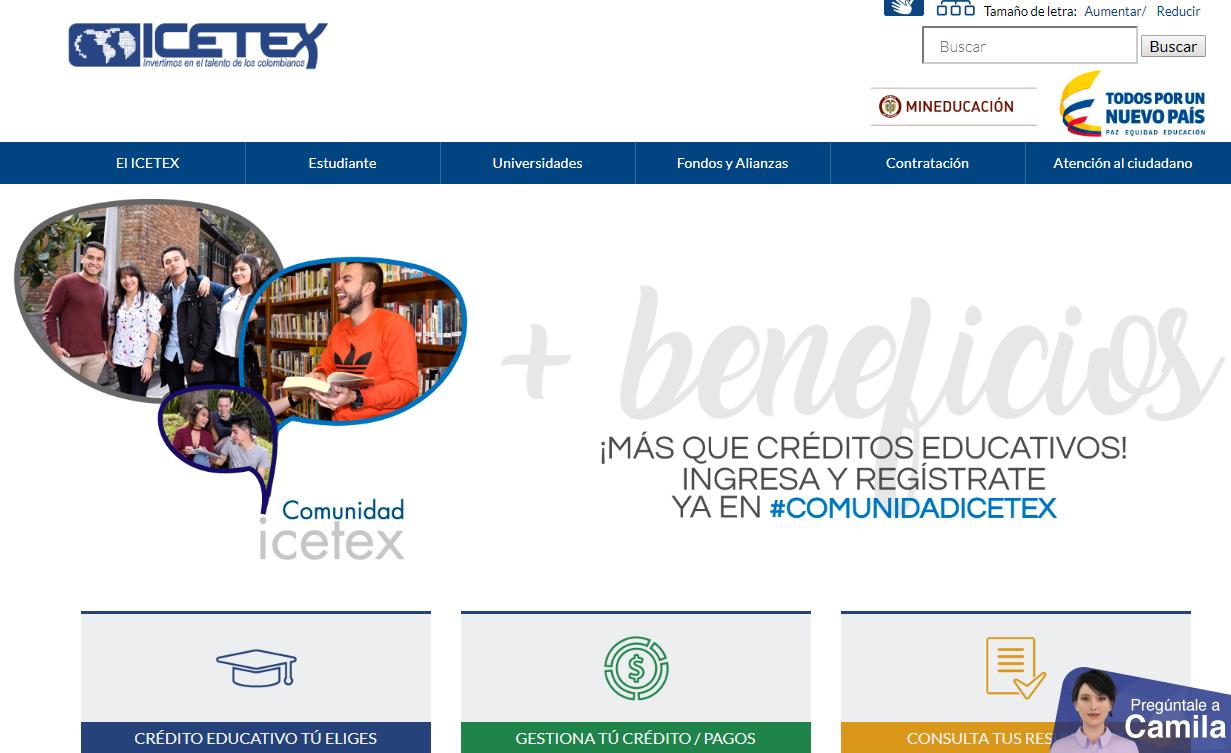 Paso 1: Ingresar a la página web de Icetex