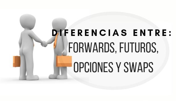 Diferencias entre forwards, futuros, opciones y swaps