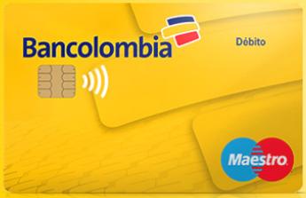 Tarjeta Débito Maestro de Pago sin Contacto de Bancolombia