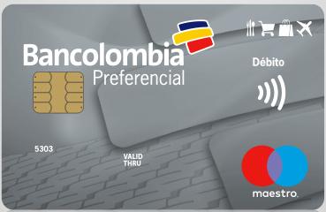 Tarjeta Débito Maestro Preferencial de Bancolombia