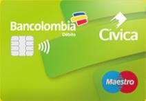 Tarjeta Débito Bancolombia con funcionalidad de Transporte