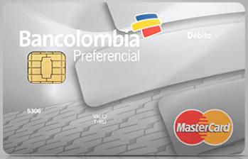 Tarjeta Débito Mastercard Preferencial de Bancolombia