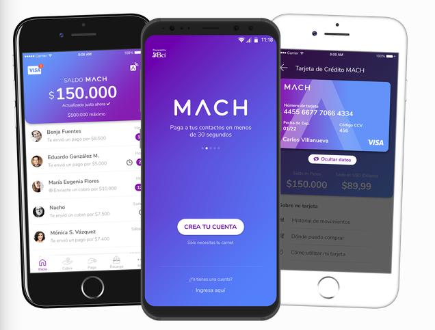 Mejores tarjetas virtuales: Mach