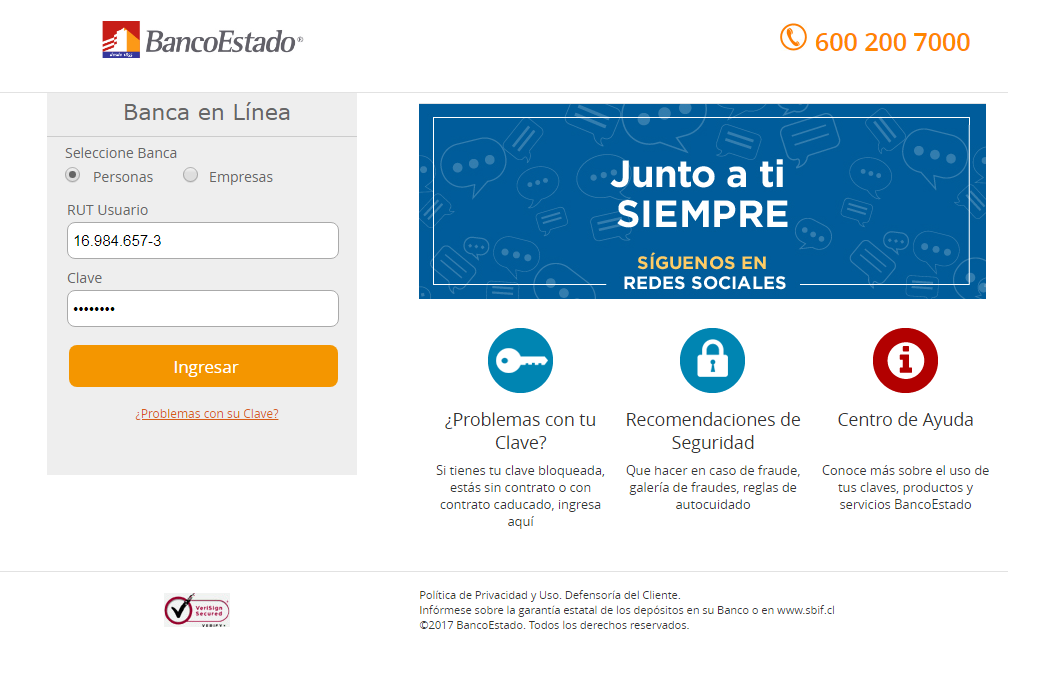 Paso #3. Completar los campos de login