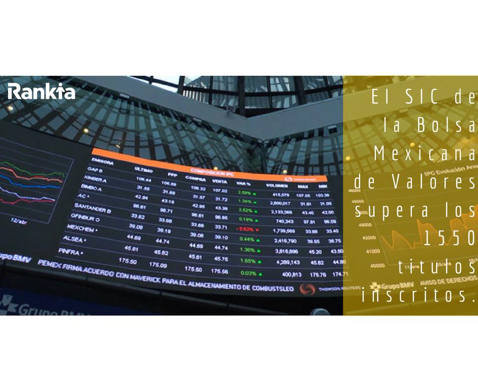 El SIC de la Bolsa Mexicana de Valores supera los 1550 titulos inscritos, Edgar Arenas