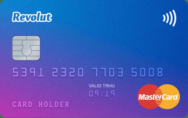 Tarjeta de débito Revolut Card