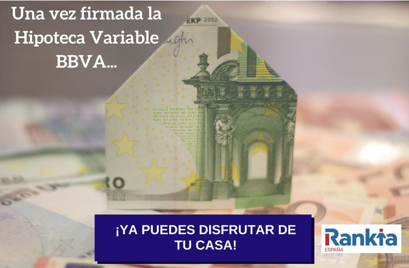 Firma de la Hipoteca Variable BBVA