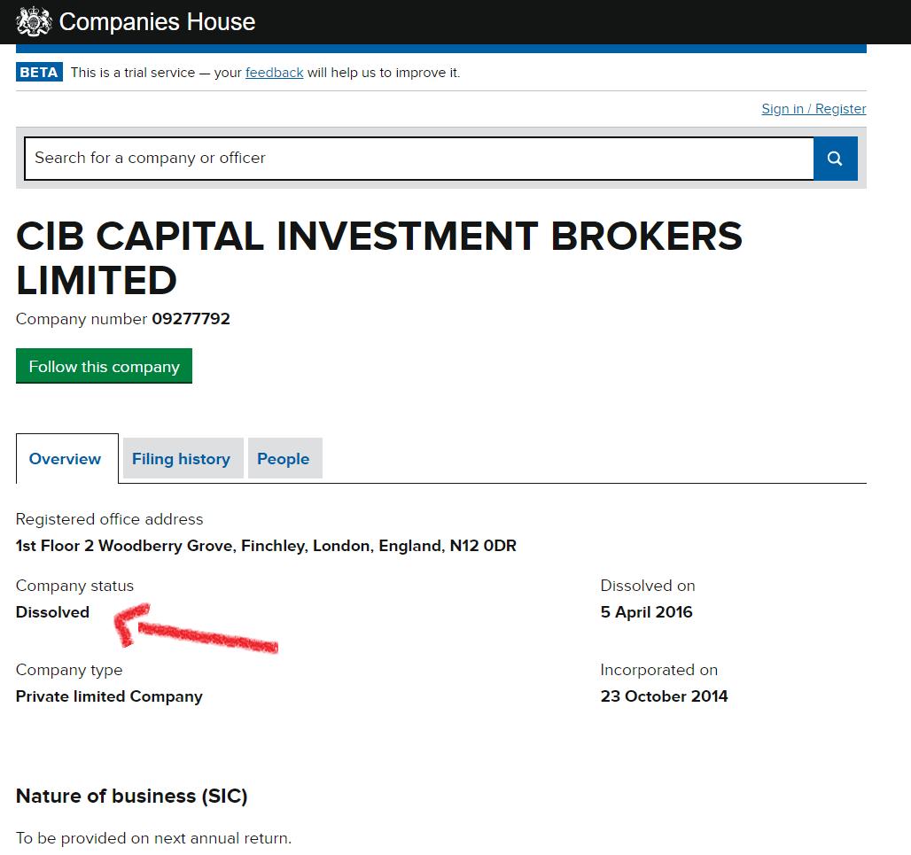cibfx broker empresa disuelta