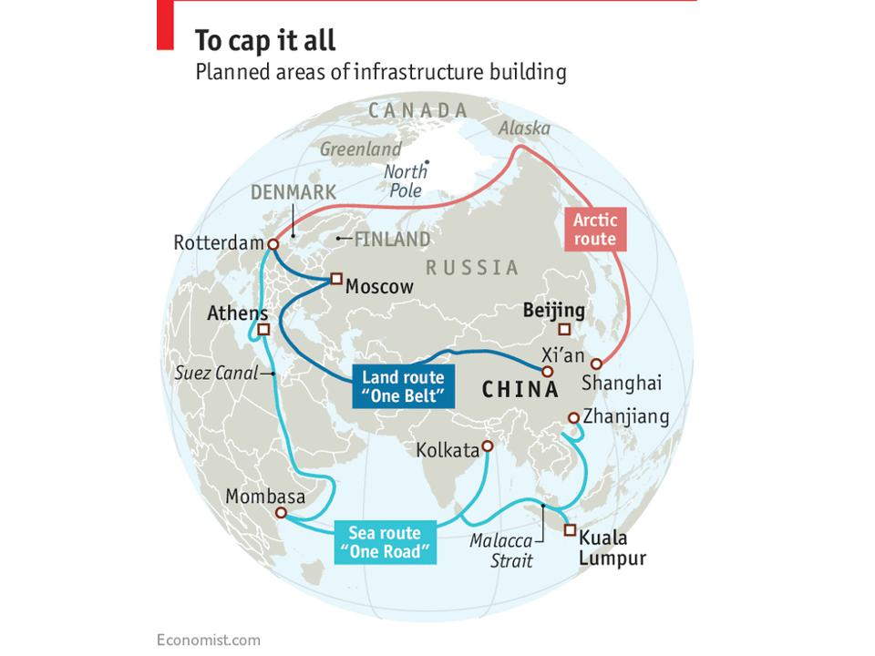 Infraestructuras previstas de China