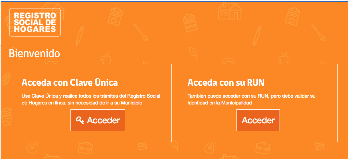 ¿Cómo acceder al Registro Social de Hogares?