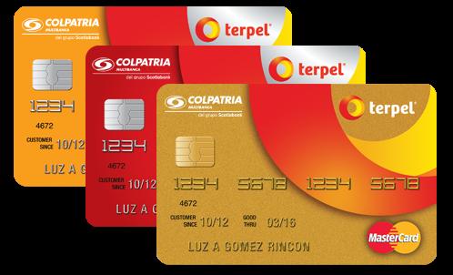 Tarjeta de Crédito Terpel: Colpatria, para combustible y puntos
