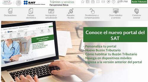Nuevo portal, SAT renueva y mejora su sitio web