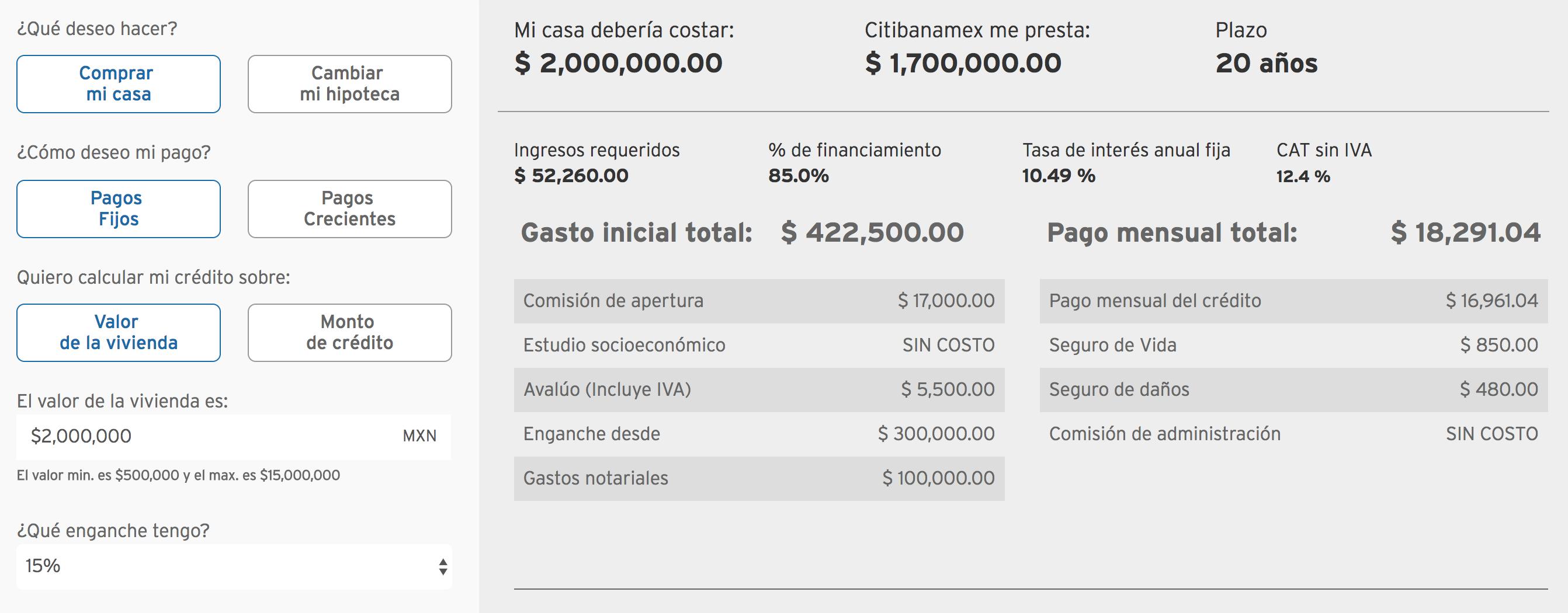 crédito hipotecario banamex