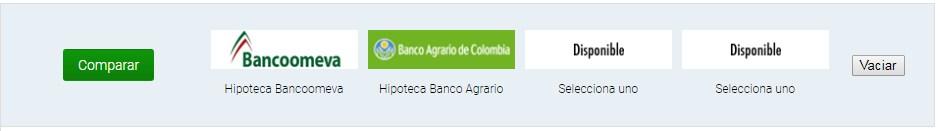 Comparador y simulador de créditos hipotecarios en Colombia: Comparar