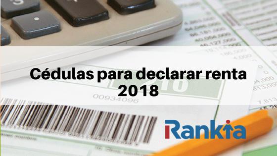 Cédulas para declarar renta 2018