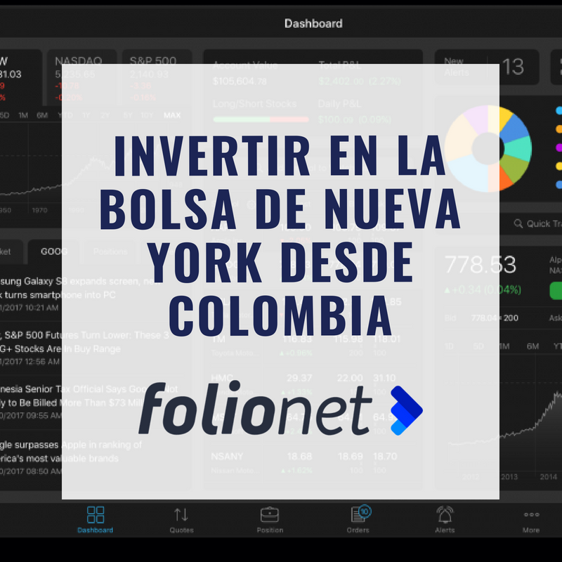 Folionet: Invertir en la bolsa de Nueva York desde Colombia