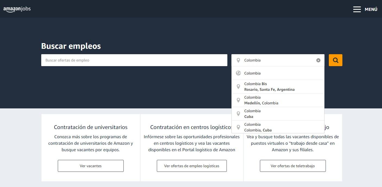 Paso #2. Empleo Amazon Colombia