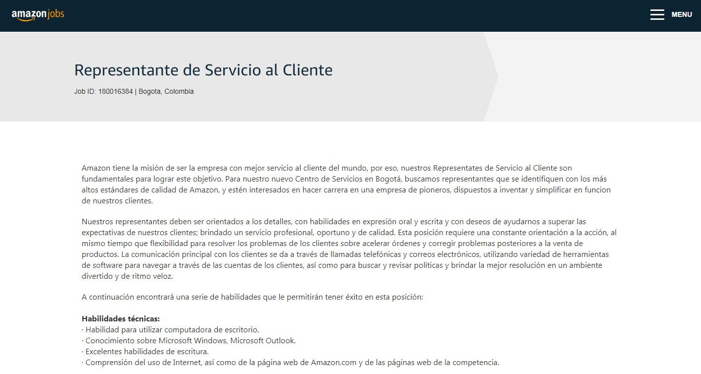 Paso #5. Empleo Amazon Colombia
