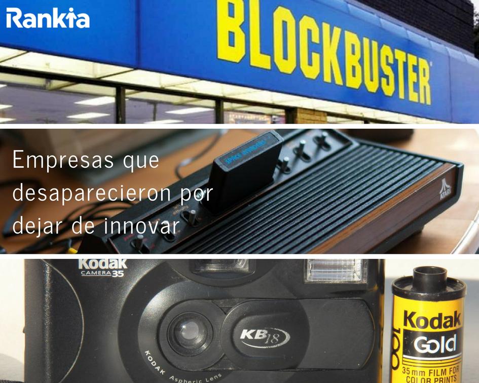 Empresas que desaparecieron por dejar de innovar, Edgar Arenas, Blockbuster, Atari, Kodak