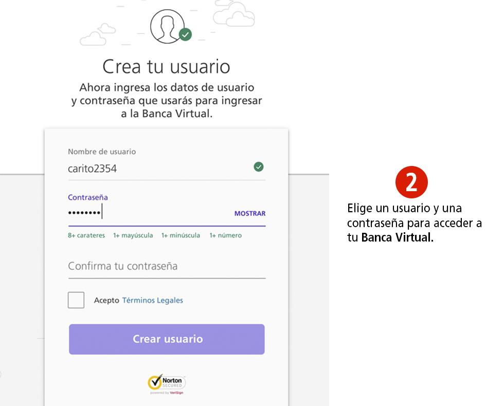 Registrarte en Colpatria Banca Virtual - Paso 2