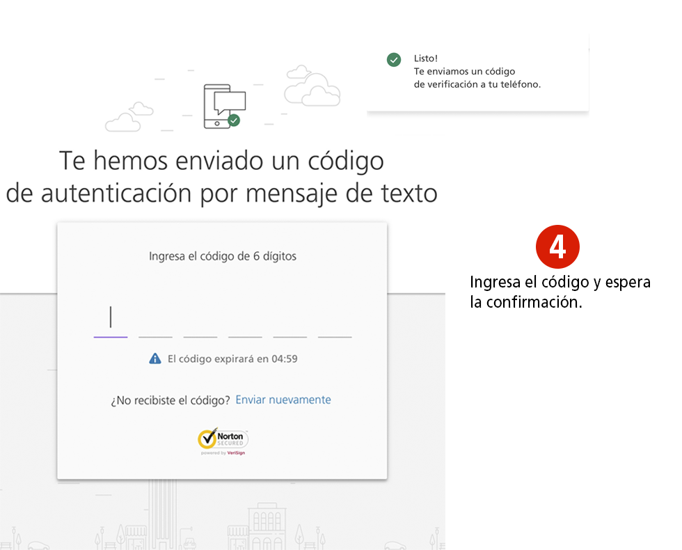 Registrarte en Colpatria Banca Virtual - Paso 4