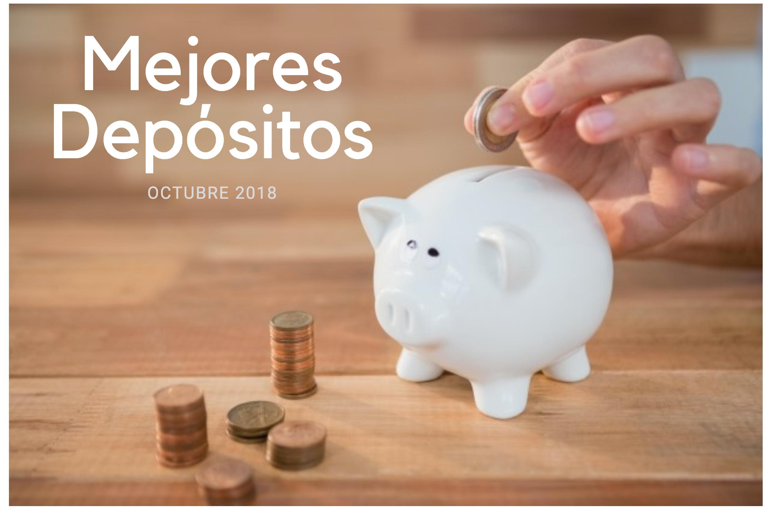 mejores depósitos octubre 2018