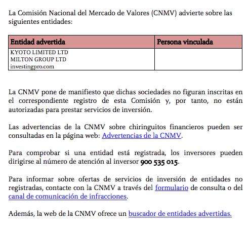 alerta cnmv
