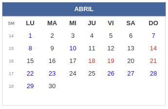 Calendario Colombia 2020 Festivos.Calendario Laboral Colombia Dias Festivos 2019 Rankia
