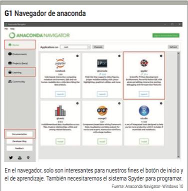 navegador de anaconda