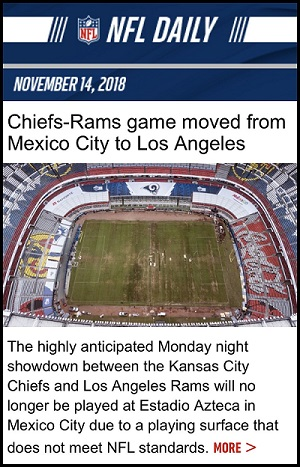 Cancelación del juego de la NFL la mayor pérdida es para la marca país México