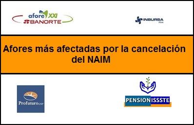afores más afectadas por cancelación NAIM