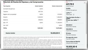 TAE Hipoteca Openbank