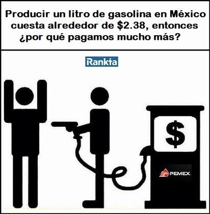 ¿Cuánto costaría un litro de gasolina hecha en México?