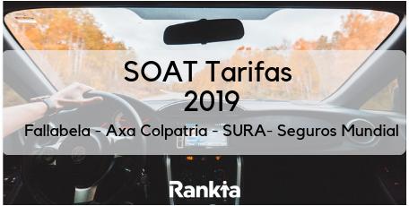 SOAT Tarifas 2019: Falabella, Axa Colpatria, SURA y Seguros Mundial