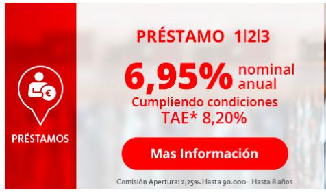 Préstamo 123 Santander