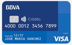 Tarjeta crédito BBVA