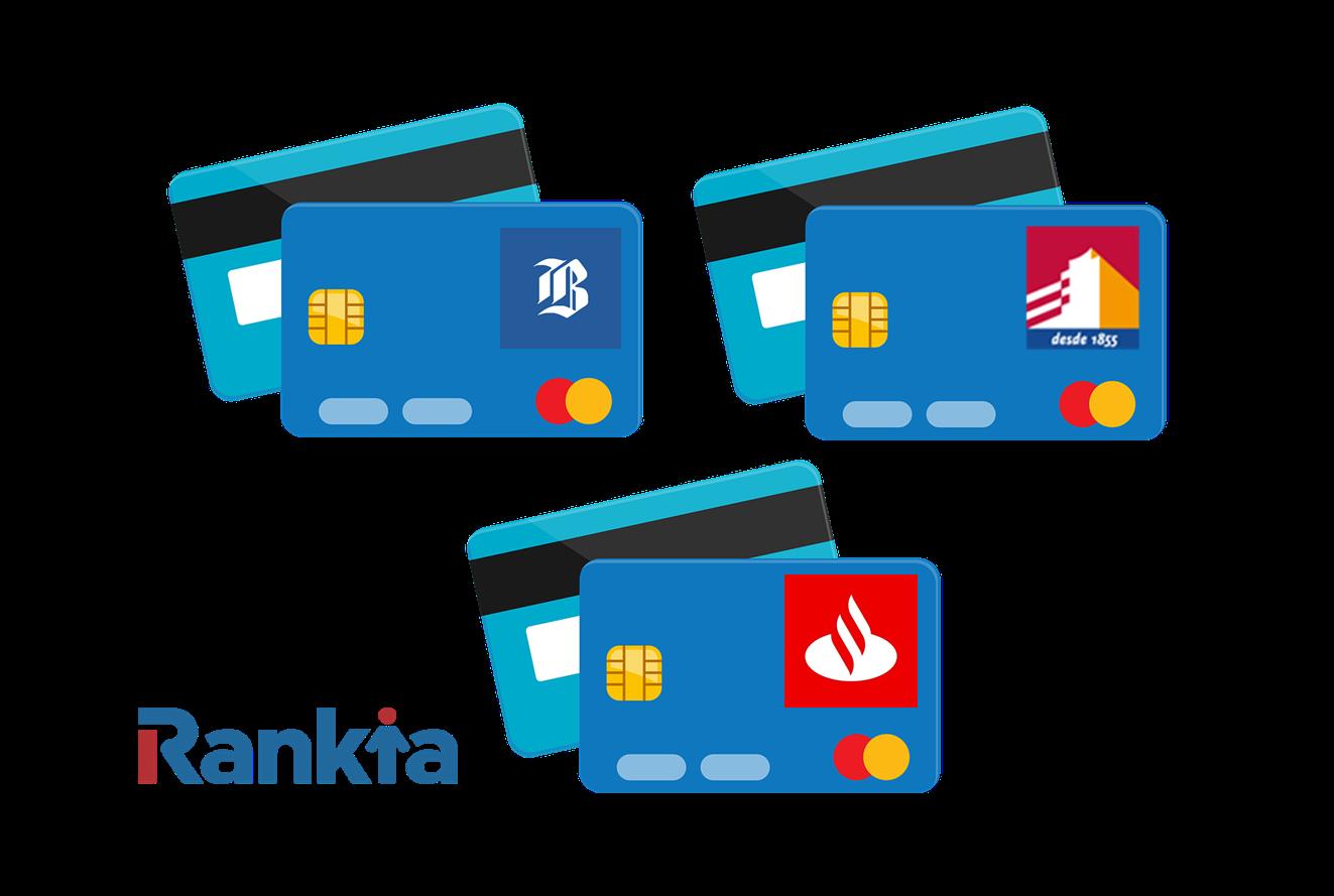 Comparativa tarjetas de crédito: Banco de Chile, BancoEstado y Santander
