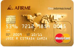 Tarjeta de crédito afirme oro