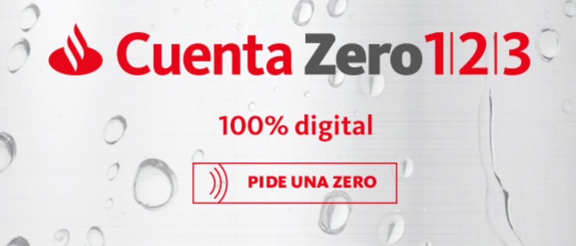 Cuenta Zero 1|2|3 Banco Santander