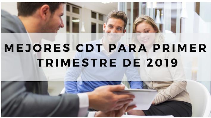 Mejores CDT para primer trimestre de 2019