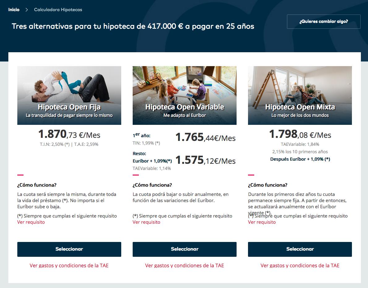 Hipotecas Openbank: Fija, variable y mixta