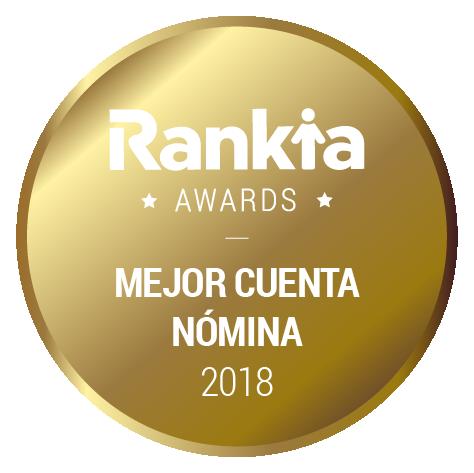 Primer premio Rankia Mejor Cuenta Nómina 2018