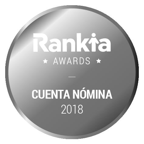 Segundo premio Mejor Cuenta Nómina Rankia 2018