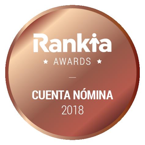 Tercer premio Mejor Cuenta Nómina Rankia 2018