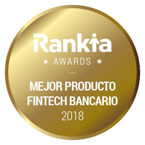 Primer premio mejor producto fintech rankia 2018
