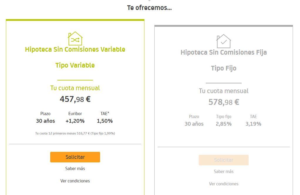 resultado simulador hipotecas bankia