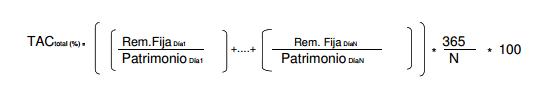 Fórmula del TAC Total
